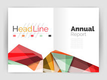 Abstract background annual report template Royalty Free Stock Photography