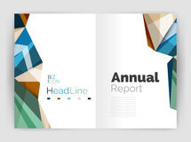 Abstract background annual report template. Geometric triangle design business brochure cover Royalty Free Stock Photos