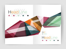 Abstract background annual report template Stock Photos