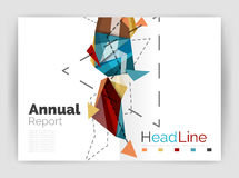 Abstract background annual report template Royalty Free Stock Image