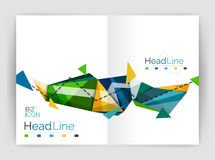 Abstract background annual report template Stock Photography