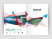 Abstract background annual report template Royalty Free Stock Photo