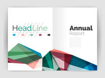 Abstract background annual report template. Geometric triangle design business brochure cover royalty free illustration