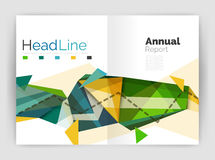 Abstract background annual report template Stock Images