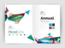 Abstract background annual report template Royalty Free Stock Photos
