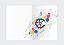 Abstract background annual report template, geometric triangle design business brochure cover Stock Photos
