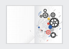 Abstract background annual report template, geometric triangle design business brochure cover Stock Images