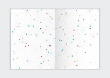 Abstract background annual report template, geometric triangle design business brochure cover royalty free stock photos
