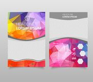 Abstract background annual report template, Modern triangle presentation template. Business design background, brochure or flyer c. Oncept or geometric web royalty free illustration