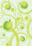 Abstract background with apples.Organnic food and cocktails. Vector illustration Royalty Free Stock Photography