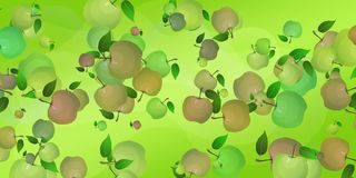 Abstract background with apples. Waves of juice symbolic. Abstract background with apples. Waves of juice are symbolic. Screensaver for the site, cover vector illustration