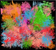 Abstract background with the application of all colors of the rainbow. Using this background in web sites, blogs increases traffic of visitors stock illustration