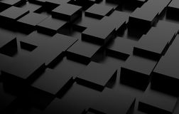 Abstract background array of black cubes. 3d render. Ing stock illustration