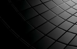 Abstract background array of black shinny cubes. 3d render Stock Photo
