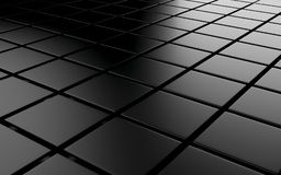 Abstract background array of black shinny cubes. 3d render. Ing vector illustration