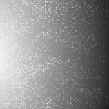 Abstract background with an array of dots and circles. Geometric texture. Monochrome image stock illustration