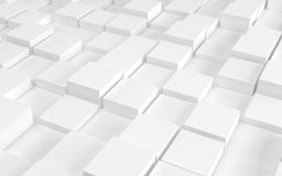 Abstract background array of white cubes. 3d render. Ing stock illustration