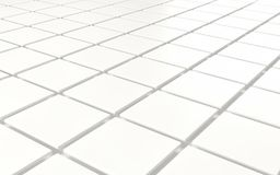 Abstract background array of white shinny cubes. 3d render Royalty Free Stock Images