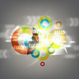 Abstract background with arrow motion Royalty Free Stock Images