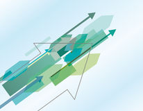 Abstract background with arrows. Blue abstract background with arrows stock illustration
