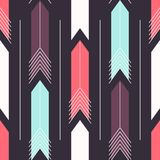 Abstract background with arrows. Colorful abstract background with arrows. Seamless pattern. Trendy illustration Royalty Free Illustration
