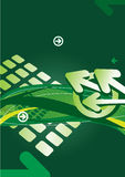 Abstract background with arrows and lines. Green abstract background with arrows and lines Stock Illustration