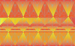 Abstract background art line wave orange and yellow seamless pat. Terns graphic design Royalty Free Stock Photography
