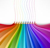 Abstract background with art pencils. Vector Royalty Free Stock Photo