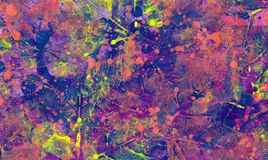 Abstract background. Artistic painted and imprinted colours on Royalty Free Stock Photo