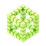 Abstract background as cube structure Royalty Free Stock Images