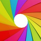 Abstract background as a shutter mechanism. Abstract background as a rainbow colored shutter mechanism with an empty space in the center Royalty Free Stock Photography