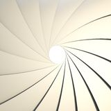 Abstract background as a shutter mechanism. Abstract background as a chrome metal shutter mechanism with an empty space in the center Royalty Free Stock Photos