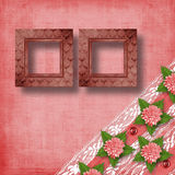 Abstract background with asters. And lace for holiday invitations or greetings Stock Images