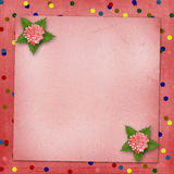 Abstract background with asters for holiday. Invitations or greetings Stock Photography