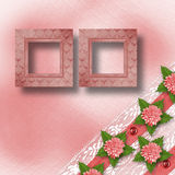 Abstract background with asters and lace Royalty Free Stock Image