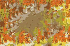 Abstract background with autumn or fall colors on leaves vector illustration