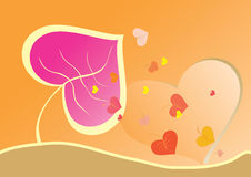 Abstract background from autumn leaves. Abstract background from leaves in the form of heart Royalty Free Illustration