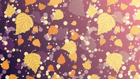 Abstract background of autumn leaves. Vector royalty free illustration