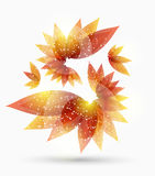 Abstract background with autumn leaves. Vector abstract background with autumn leaves vector illustration