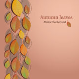 Abstract background with autumn leaves Royalty Free Stock Photos