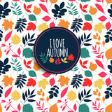 Abstract background of autumn. Autumn seamless pattern. Abstract background stock illustration