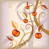 Abstract background autumn tree Royalty Free Stock Images