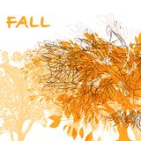 Abstract background with autumn trees. Abstract background with autumn tree royalty free illustration