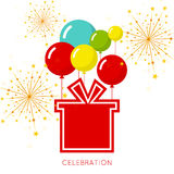 Abstract background with balloons. And gift. Place for text congratulations Royalty Free Stock Photo