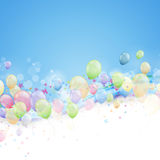 Abstract Background with Balloons. Illustration of an Abstract Background with Colorful Balloons Stock Photography