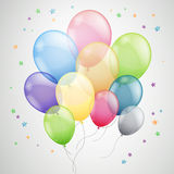 Abstract Background with Balloons. Illustration of  Colorful Flying Balloons Stock Photos
