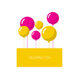 Abstract background with balloons. Place for text congratulations Royalty Free Stock Photos