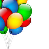 Abstract background with balloons Stock Photo