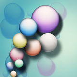 Abstract background with balls Stock Images