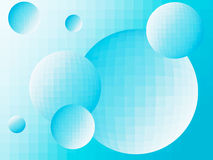Abstract background with balls. Abstract blue background balls closeup Royalty Free Stock Photos